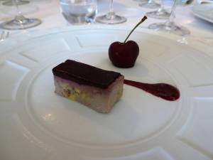Pate foi de gras with cherry